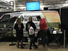 Sustainable World Tour Van at Ohio FFA Convention